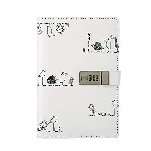 TTXLY Kreative B6 / A5 Notebook Pu Tagebuch Buch mit Passwortsperre Account Buch Erwachsene Weibliche Notebook Schreibwaren Studenten,B