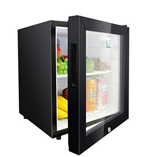 Mini Kühlschrank Schwarz 42L Kapazität, Wein und Getränkekühlschrank Visuelle Tür + Schloss und Schlüssel Low Energy + (Edelstahl) 52x42x42CM (Wein-kühlschrank Mit Schloss)