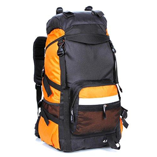 Outdoor zaino alpinismo, escursionismo borse, zaini da campeggio grande capacità, sia uomini che donne, 45 l, nylon, impermeabile e traspirante , c a