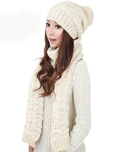 Generic - Ensemble bonnet, écharpe et gants - Fille Blanc