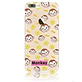 Blitz MONKEY Schutz Hülle Transparent TPU Cartoon SAMSUNG Galaxy Monkey Theme M7 S6