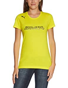 PUMA Damen BVB T Shirt Fan Tee, Blazing Yellow/Black, XS, 743578 02