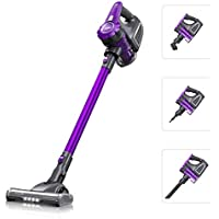 Housmile 4 in 1 Lightweight Cordless Handheld Vacuum Cleaner with Wall Mount and Four LED Lights for Home, Office, Pet Dog Hair and Car Cleaning