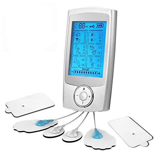 L&Z TENS Einheit Elektrische Muskelstimulator Maschine mit 16 Massage-Modi, 6 wiederverwendbare...