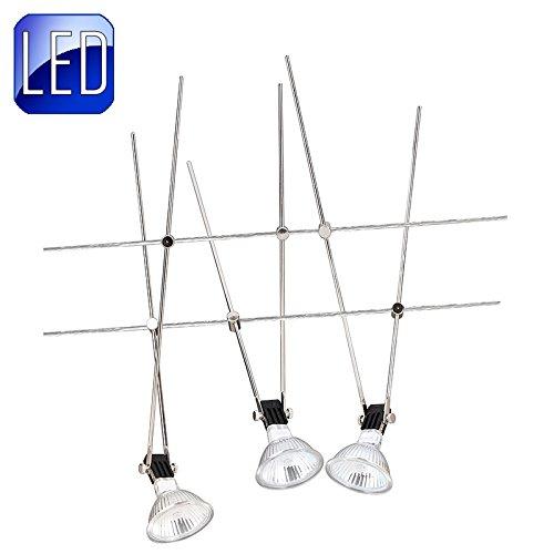 LED Seilsystem Set 3x3,3W, incl Leuchtmittel und Driver