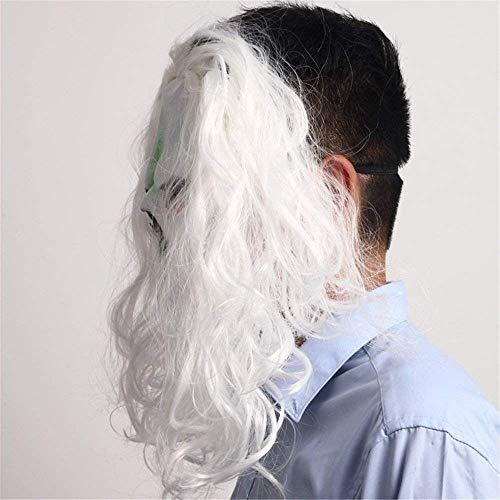 Xin maschera maschera per ballo in maschera maschera per capelli dai capelli bianchi horror halloween goccia maschera per gli occhi parrucca spaventosa latex dance show dress up puntelli maschera