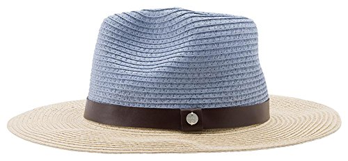 ESPRIT Damen Fedora 056EA1P002-aus Stroh, Blau (Light Blue 440), Medium