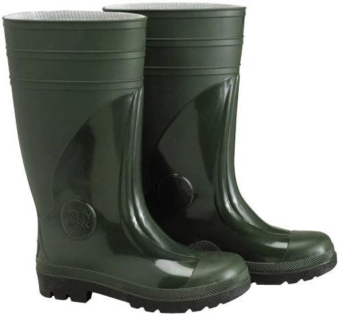 Wolfpack 15010158 - Botas goma altas seguridad, tamaño 43, color verde