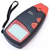 Flybiz Igrometro Tester Misuratore Digitale Misura Umidità Legno LCD Display MD812-5% A 40% RH con Sonde, Portatile misuratore di umidità del legno, 2 perni acqua umidità del legno tester di