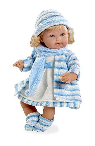 Arias - Muñeca bebé Lise, mecanismo risa magnético, color azul, 33 cm (60099)