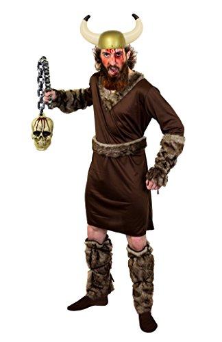 ILOVEFANCYDRESS Krieger Halloween Fasching Wikinger KOSTÜM VERKLEIDUNG Ragnar=BEINHALTET-KOSTÜM+Toten SCHÄDEL+Helm IHRER Wahl+Blut+SCHMINKE = Goldener Helm-XXLarge