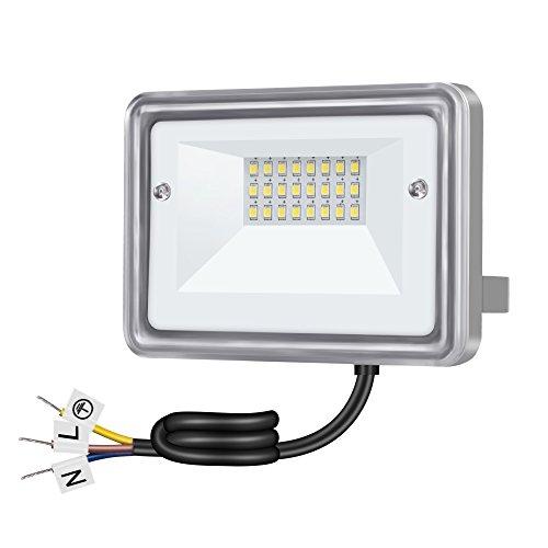 Gosun 10W LED Fluter OSRAM chips ersetzt 100W Halogenlampe Wasserdicht IP66 230V 950lm 3000K Warmweiß Flutlicht LED Außenleuchten Flutlichtstrahler Strahler LED Scheinwerfer