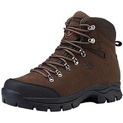 Chaussures de Randonnée Homme Maintien Confort Respirant, Trekking Alpinisme Bottes de Randonnée Montagne Imperméables, Noir Marron 41-47