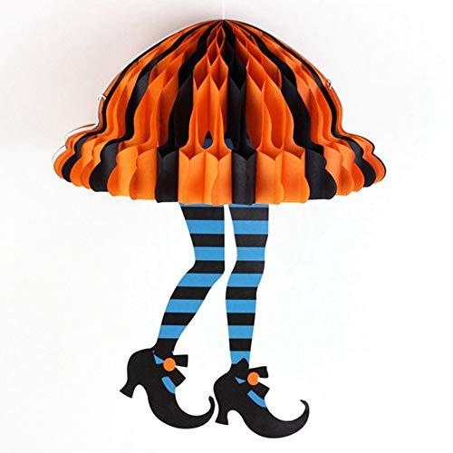 (EDFVA Skurril Halloween Waben Hexe Beine Socken Hexen Stiefel Hexe Füße Halloween Party Supplies Halloween Hängende Dekoration)