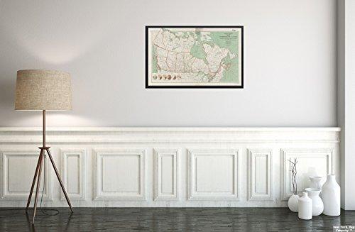 1920 Karte (New York Map Company  1920 Karte Kanada von The Dominion of Canada: zeigt natürliche Ressourcen, Transport und Handel, historischer Antik-Vintage-Nachdruck, fertig zum Einrahmen)