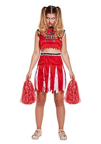 Womens Mad Hatter Halloween Kostüm - Emmas Wardrobe Cheerleader Halloween-Kostüm-Abendkleid - Zombie