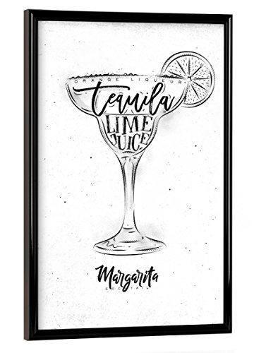 artboxONE Poster mit Rahmen 30x20 cm Margarita Cocktail White von Künstler Anna Kozlenko - Poster mit Kunststoffrahmen