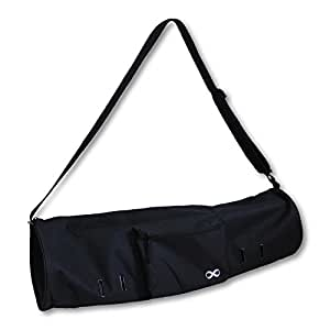 """YogaAddict Yoga Mat Bag Compact With Pocket, 28"""" Long, Fit Most Mat Size, Extra Wide, Easy Access - Black"""