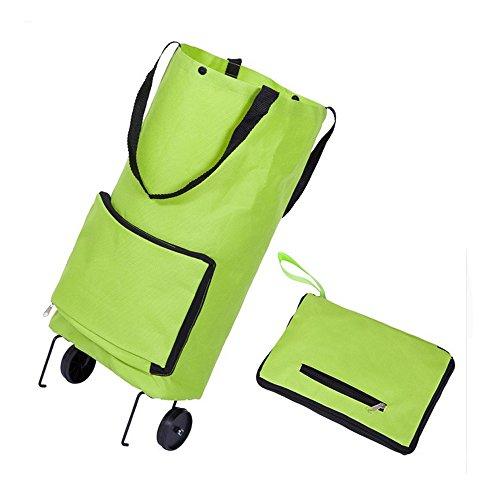 Erweiterbar Rolling Einkaufstasche auf Rädern, wiederverwendbar faltbar Warenkorb Trolley Tasche mit Rad, 12