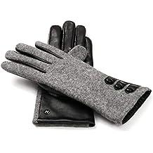 8b6c1e3be3cd74 napo gloves napoFELT - Touchscreen Lederhandschuhe für Damen aus Lammnappa  Leder in Schwarz und Filz in