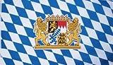 Bayern Fahne mit 2 Löwenwappen Grösse 1,50x2,50m XXL - FRIP –Versand®