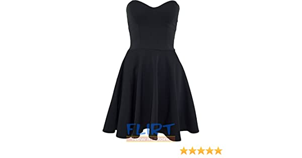 Womens Mini Dress Ladies Skater Padded Boobtube Bodycon Top Pleated Stretch  8-14 (UK 14 (XL) 9ac8c3d15