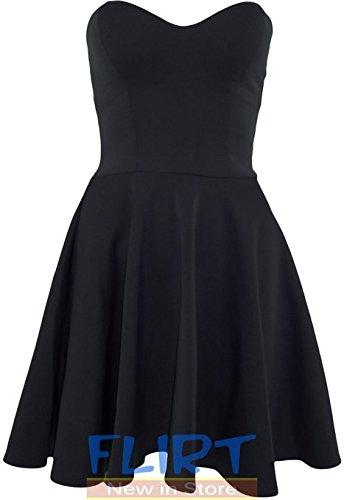 FLIRTY WARDROBE Damen Kleid Gelb crema Small (Mini-kleid Flirty)
