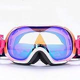 Ski Brille Doppelschicht-Objektiv Anti-Fog Bergsteigen windundurchlässige Brille Schnee Spiegel (Farbe : B)