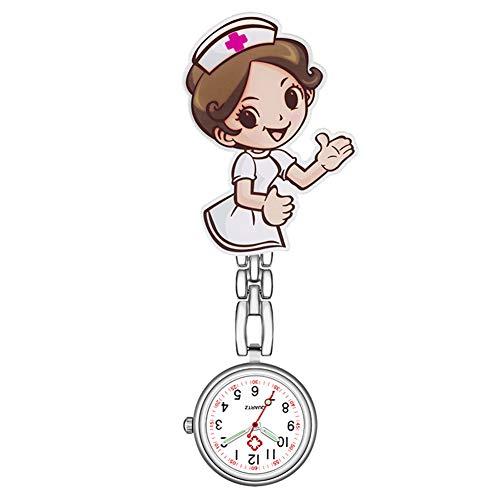 SANDIN Orologio analogico al quarzo numeri infermiera medico appeso luminoso orologio da tasca