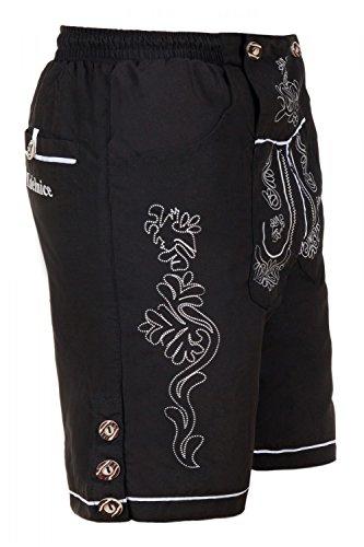 Trachten Badeshorts Badehose im Lederhosen Style braun, schwarz oder schlamm Gr. S-4XL - 2