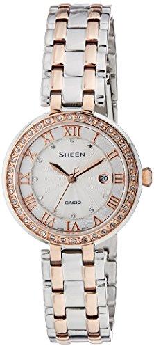 41FybUXOBKL - Casio SHE 4034BSG 7AUDR Sheen Silver Women watch