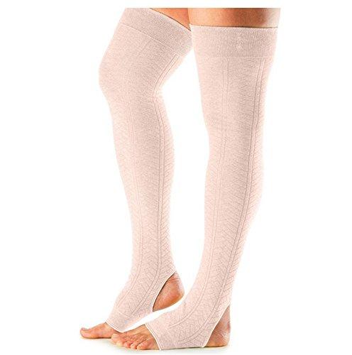 ToeSox Open Heel Legwarmer per danza, yoga, pilates, fitness–Fashion Legwarmer, Sweet Pea Sweet Pea