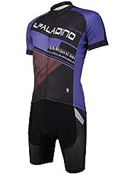 Tops en jersey de cyclisme pour hommes avec bavoir Shorts Set avec tissu en polyester 3D Tissus à manches courtes transpirables Ultra-violet à sec rapide pour été Printemps automne