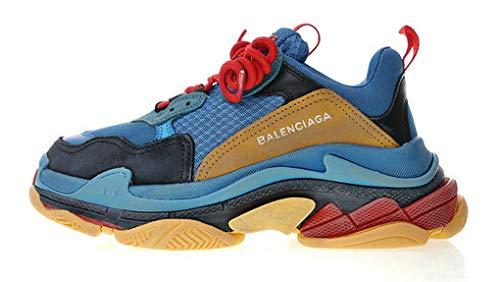 newest-fashion-sneaker-balenciaga-triple-s-trainer-laker-blue-brown-herren-damen-laufschuhe