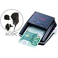 Q-Connect Detector Y Contador De Billete Falsos Con Cargador Electrico Puerto Usb Actualización De Divisas
