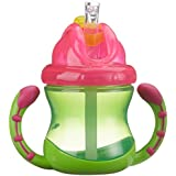 Nuby ID9845GREEN - Taza con asas, 270 ml, color verde