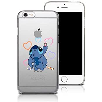 coque iphone 5/5S Stitch petit bonhomme bleu dessin coeur: Amazon.fr: High-tech