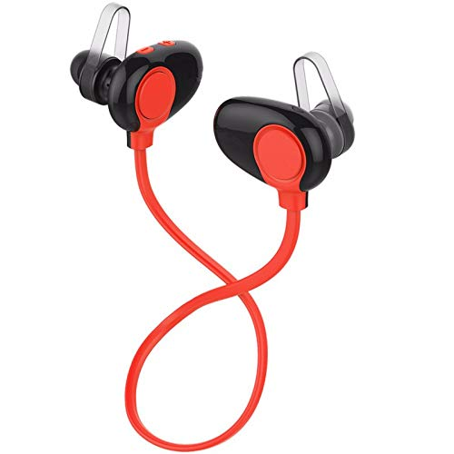 LRWEY Bluetooth-Headset, 4.5 Bluetooth-Headset-Kopfhörer Drahtloses Kopfhörer-Mikrofon Sportkopfhörer, für iPhone, iPad, Samsung, Huawei, Tablet usw