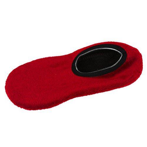 Sport Socken Damen DAY.LIN Mädchen Non slip Slipper Vlies Warm Greifer Hausschuhe Yoga (Wein)
