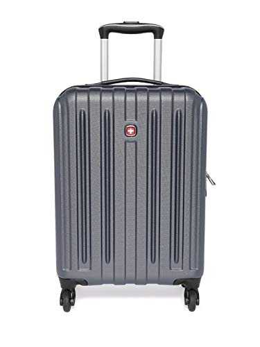 Best swiss gear bags in India 2020 Swiss Gear Unisex Rubber and ABS Expandable Hardside 19 Inches Spinner Luggage Suitcase (Gray) Image 2