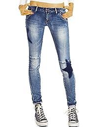 Bestyledberlin Damen Skinnyjeans, Ausgefallene Röhrenjeans, Enge Stretch Jeans, Hüftjeans j01l
