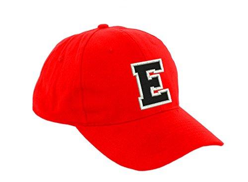 Preisvergleich Produktbild Unisex Jungen Mädchen Mütze Baseball Cap ROT Hut Kinder Kappe Alphabet A-Z Morefaz TM (E)