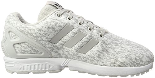 adidas ZX Flux J, Scarpe da Ginnastica Unisex-bambini Bianco (Grey One F17/Grey One F17/Ftwr White)