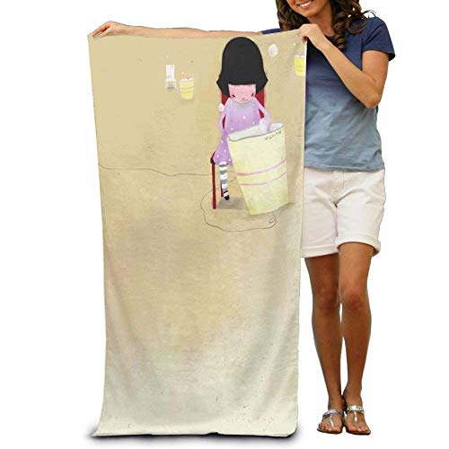 WYICPLO Kongming Latern Adult Beach Towels Fast/Quick Dry Machine Washable Lightweight Absorbent Plush Multipurpose Use Quality Towels for Swim,Pool,Beach,Gym,Camping,Yoga