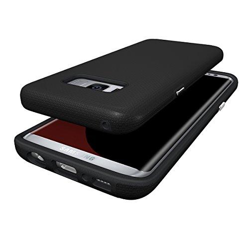Galaxy A5(2017) Coque,EVERGREENBUYING Ultra Slim léger 2 en 1 SM-A520F Cases Housse Etui de protection Anti-dérapant hybride Cover pour Samsung GALAXY A5 (2017 version) Noir Noir