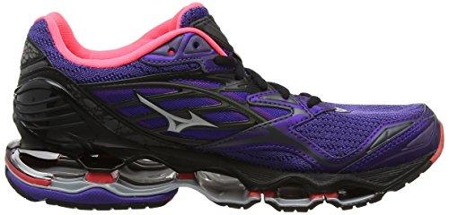 Mizuno Synchro Jr, Chaussures de Running Entrainement Femme Violet (Liberty/silver/black)
