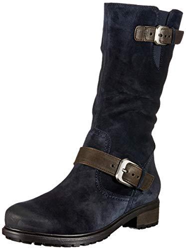 Kansas Schuhe (ara KANSAS, Damen Hohe Stiefel, Blau (OZEAN, MORO 66), 38.5 EU (5.5 UK))
