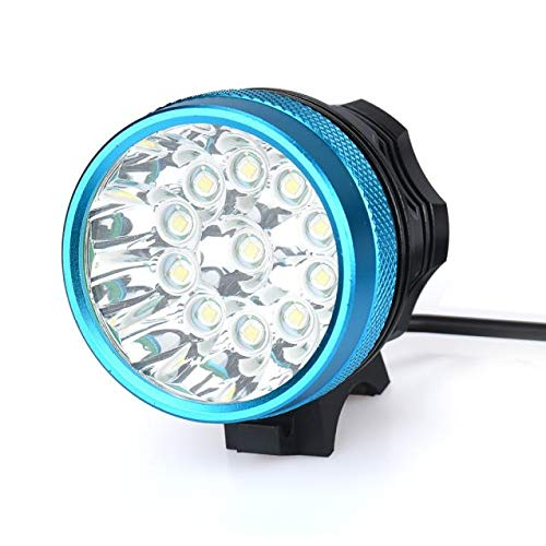 Glowjoy LED Fahrradlicht,28000LM 11 x CREE XM-L T6 LED 6 x 18650 Fahrrad-Frontlichter mit StVZO Zertifizierung Fahrradbeleuchtung Wasserdicht Fahrradlampe mit 3 Licht-Modi