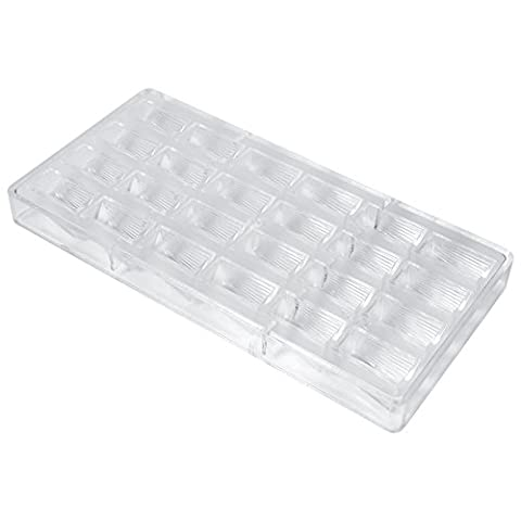 3D Chocolate Candy Mold 24 Hollow DIY Mold Cookies Pastry Tray Transparent Hard Plastic