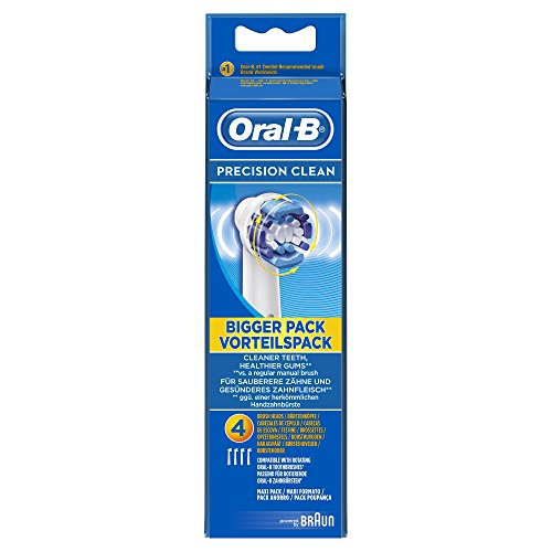 Oral-B Precision Clean Replacement White Toothbrush Heads, Refills for Electric Toothbrush, Deep and Precise Cleaning, Pack of 4